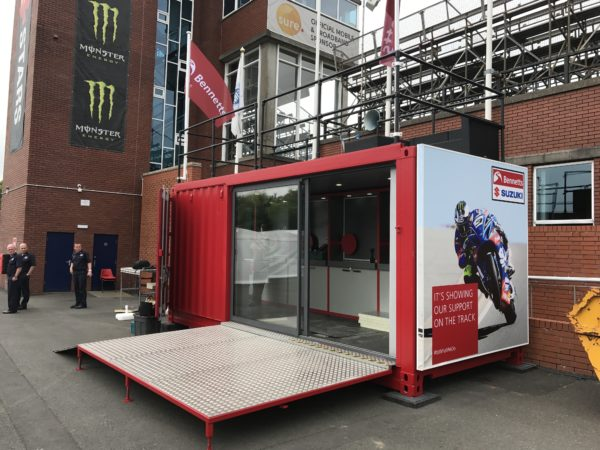 ISO Spaces at the Isle of Man TT 2017 Ready for use