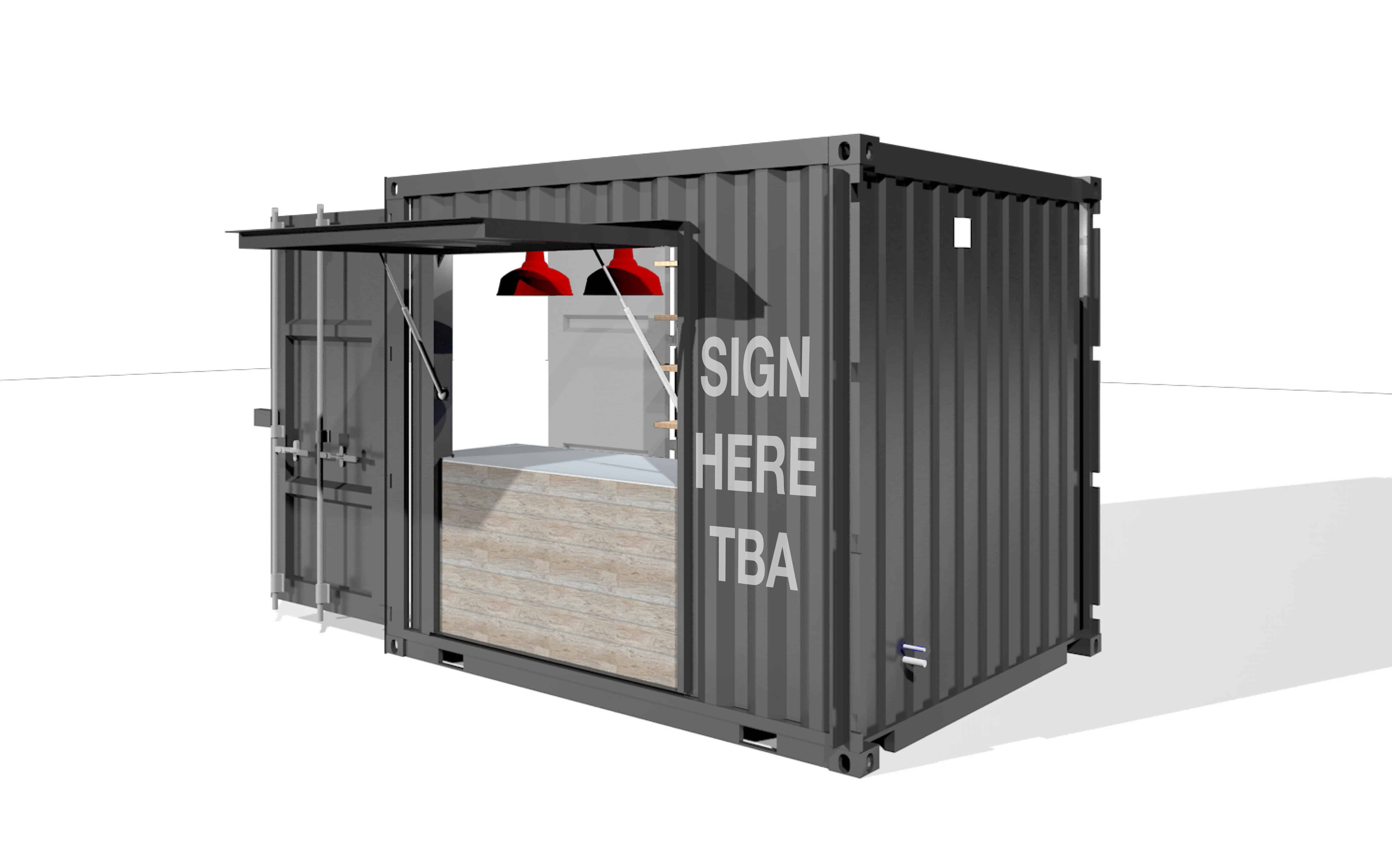 Mitchells & Butlers, Harverster, shipping container café
