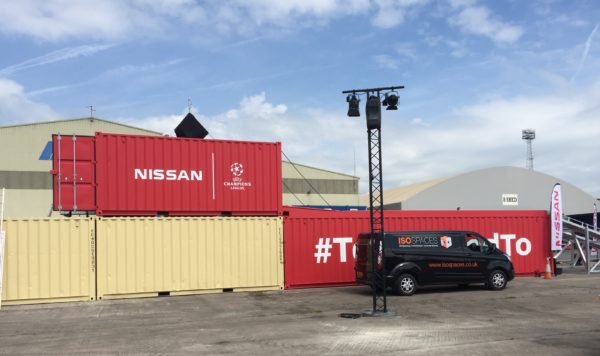 Nissan X-Trail Shipping Containers Conversion at Newport Docks