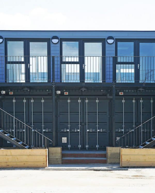 Modular construction Shipping container offices for medway council