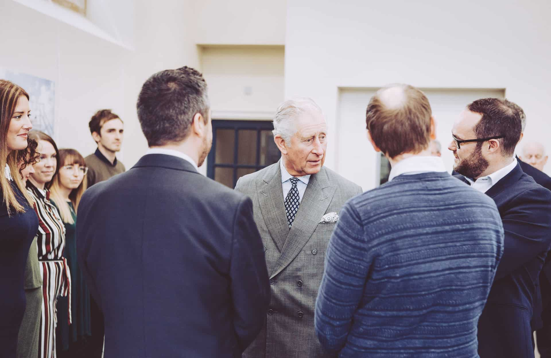 HRH Duke of Cornwall visits ISO Spaces HQ