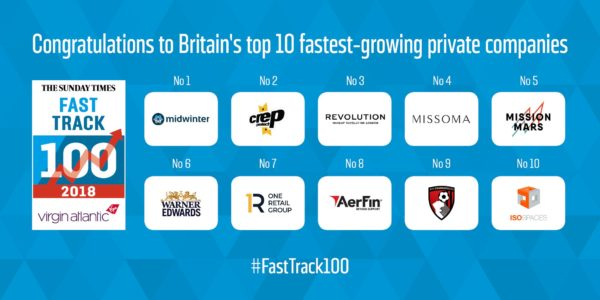 The Sunday Times Virgin Atlantic Fast Track 100