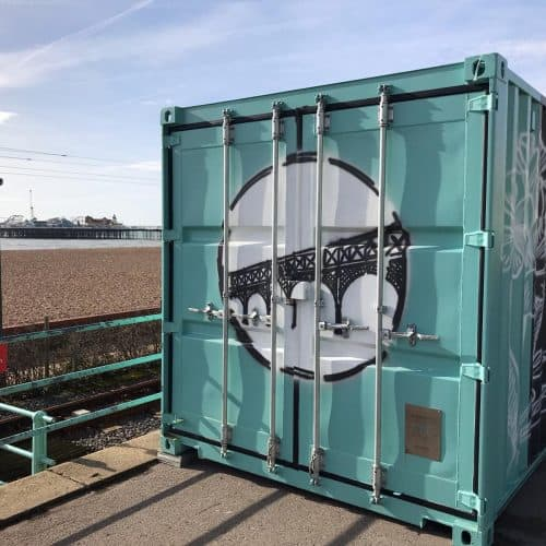 Container office - Madeira Terrace Restoration Project, Brighton