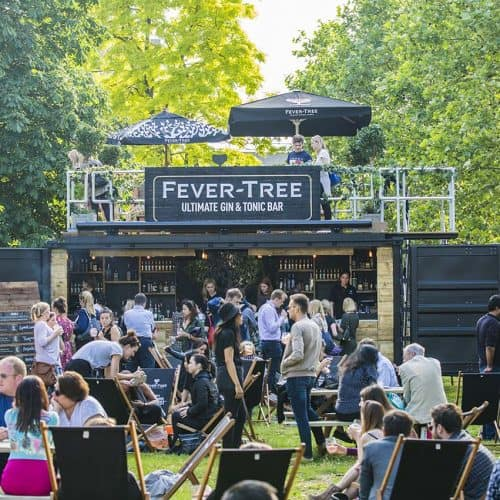 fevertree gin & tonic container bar