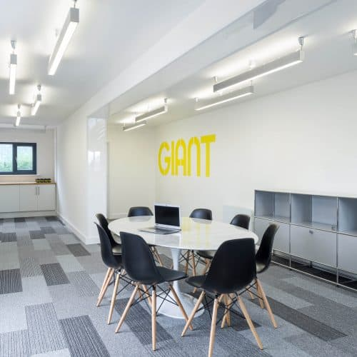 Giant, Shipping Container Marketing Suite interior