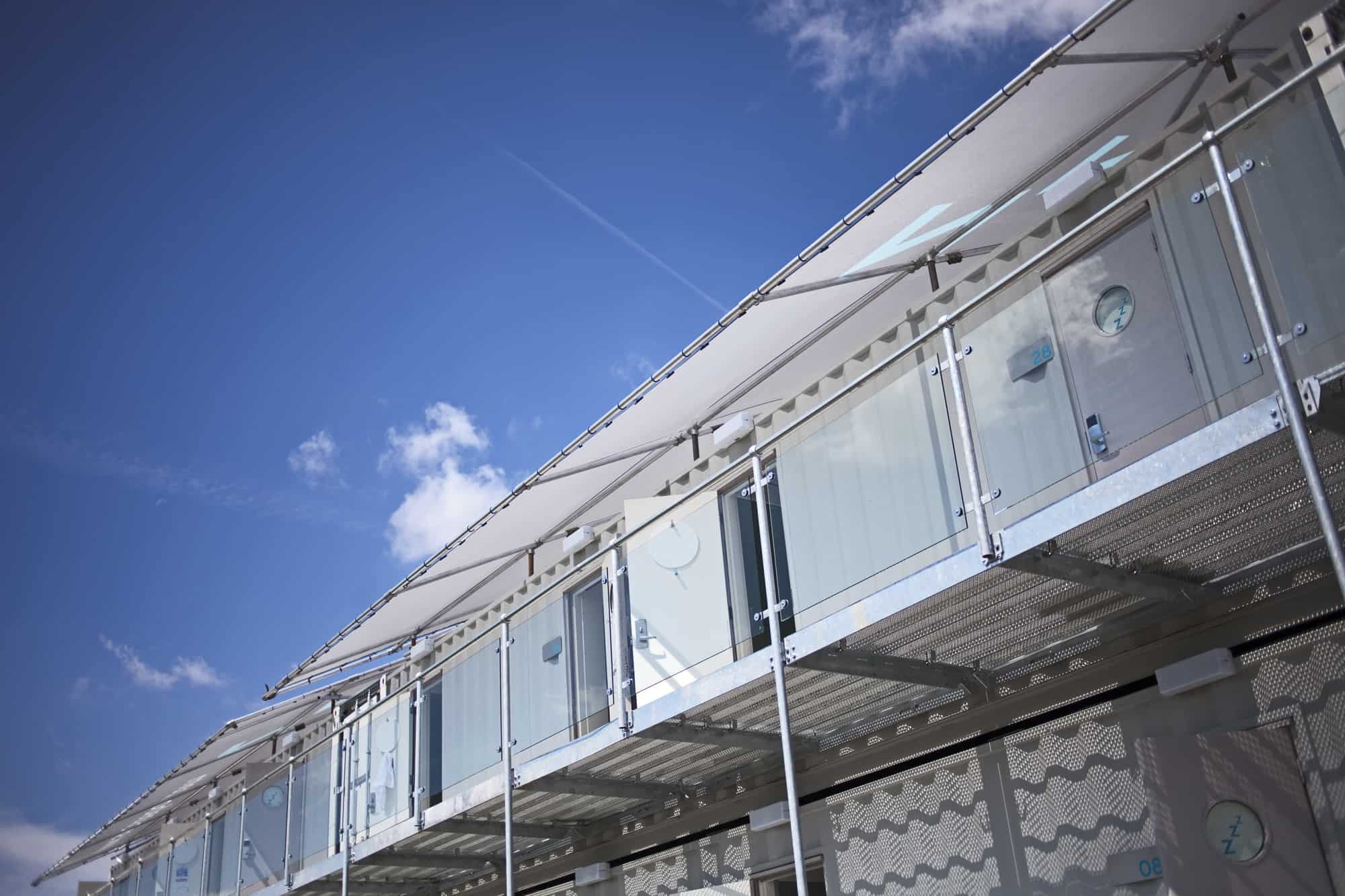 Snoozebox Hotel - containerised accommodation solution