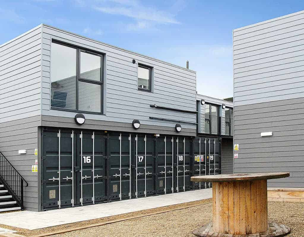 modular shipping container office construction