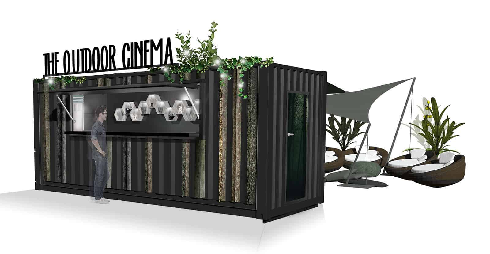shipping container cinema
