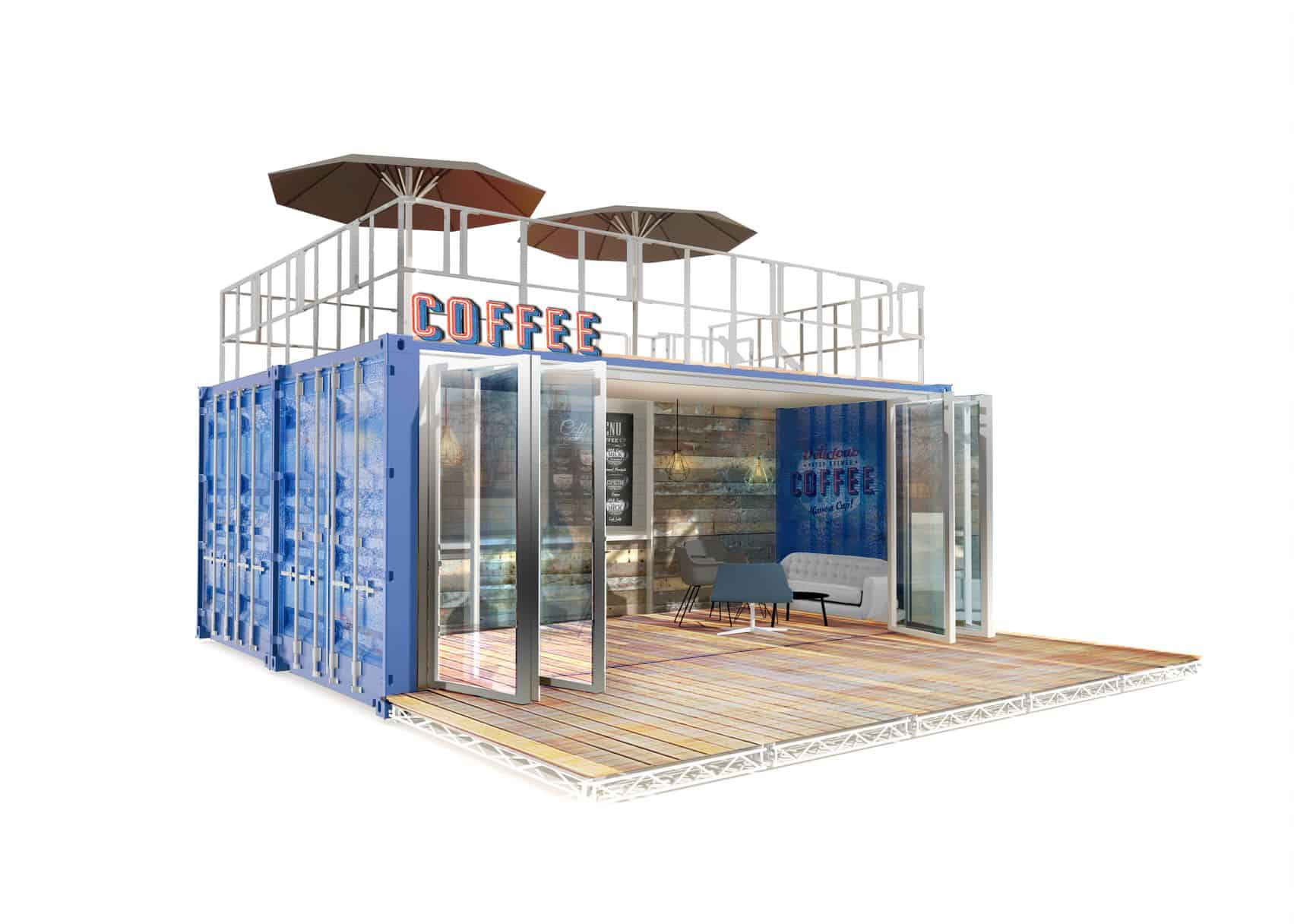 Shipping Container Coffee Shop concept