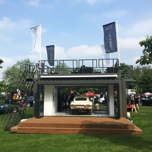 Shipping container conversion for Jaguar Land Rover