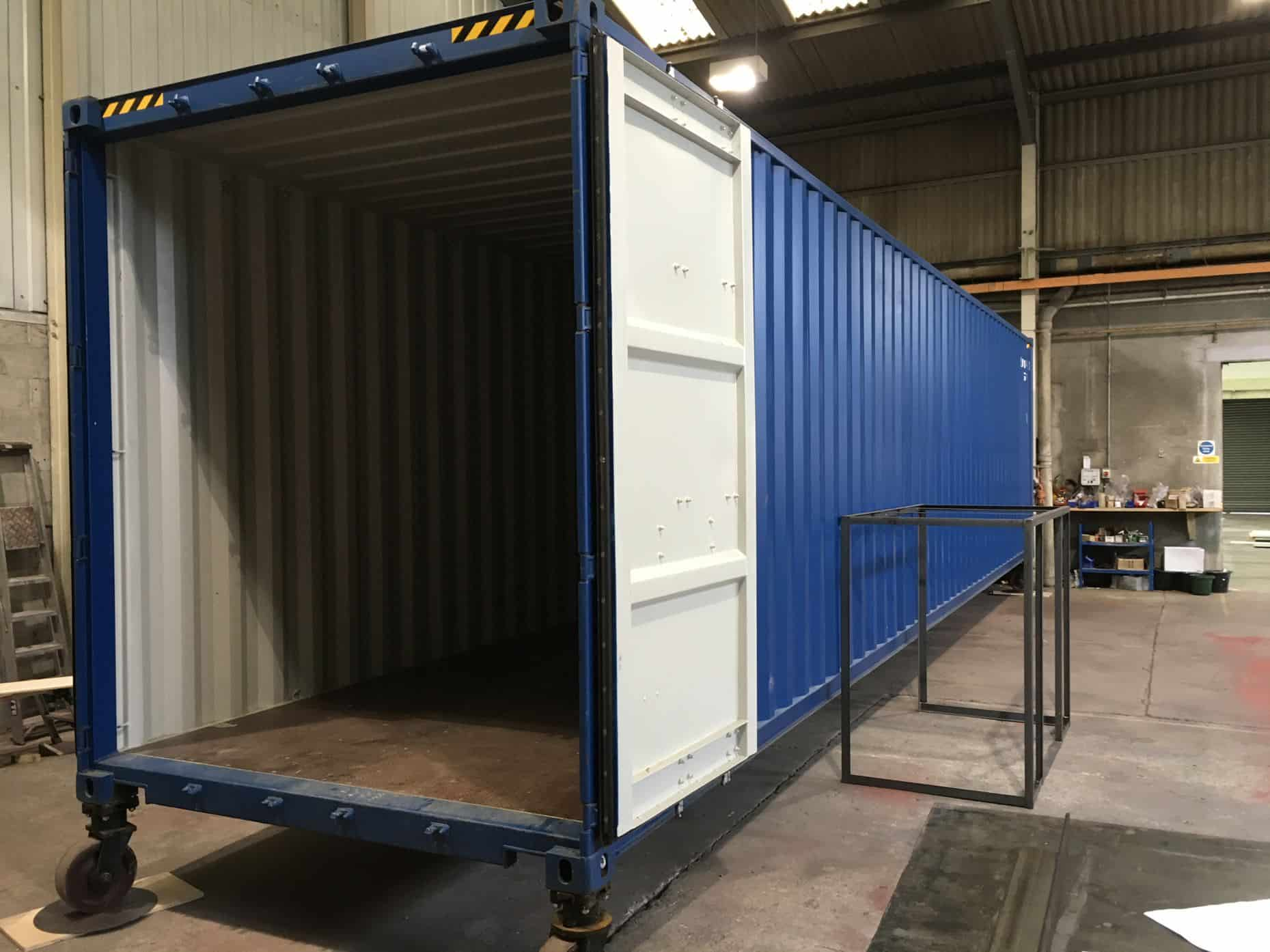Shipping container ready to be converted