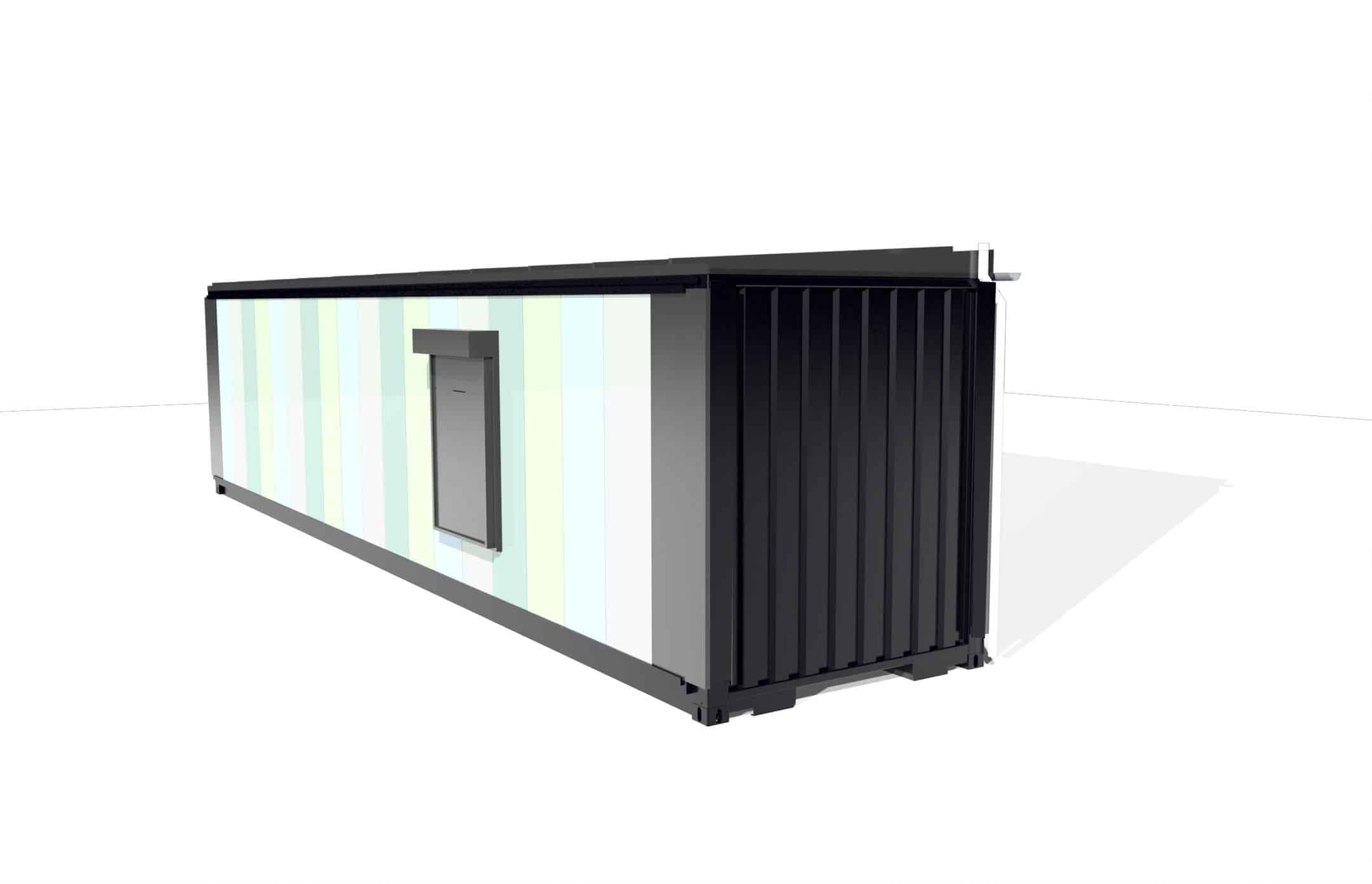 Concept design of shipping container conversion