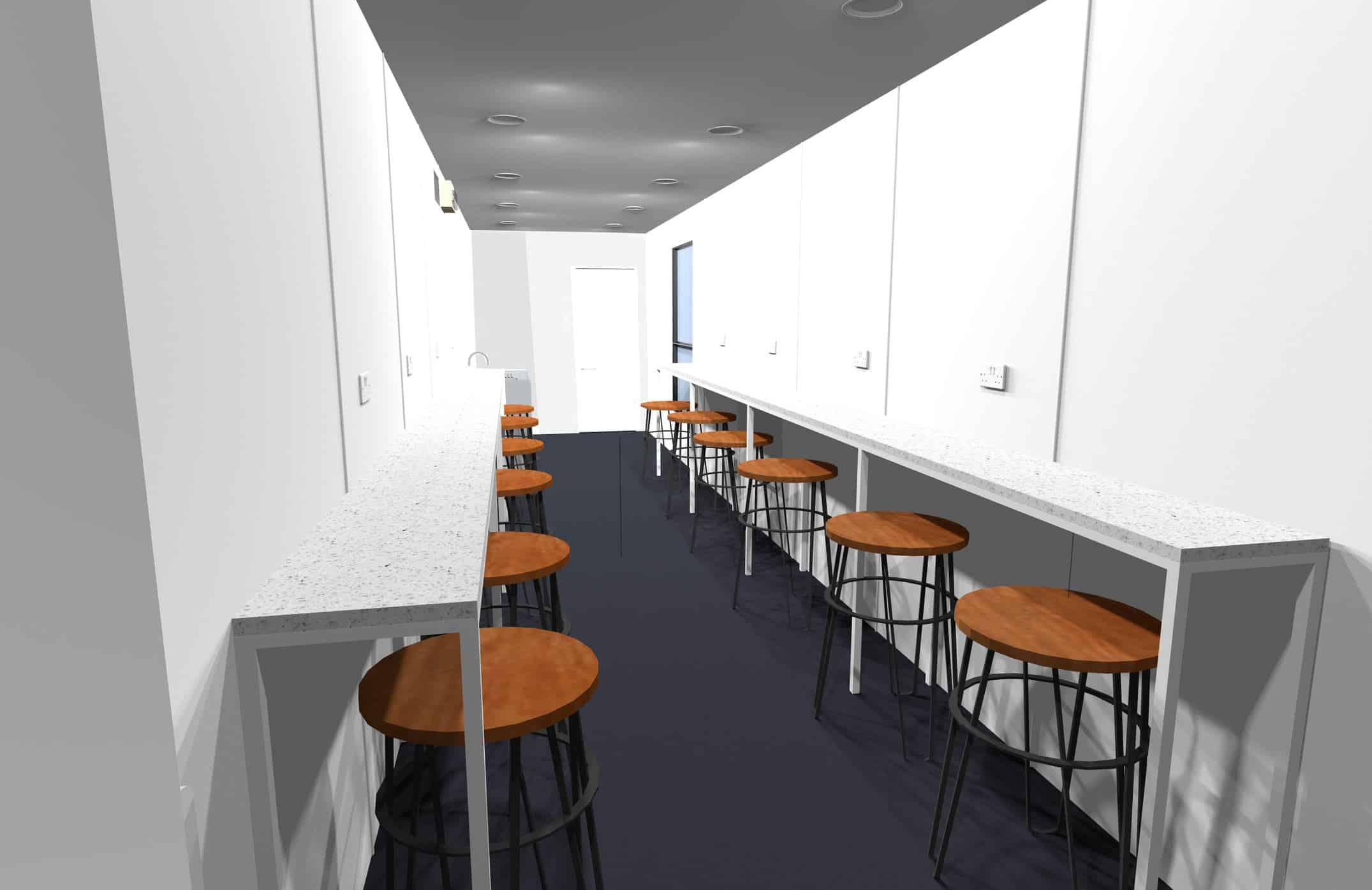 Concept design of shipping container conversion interior