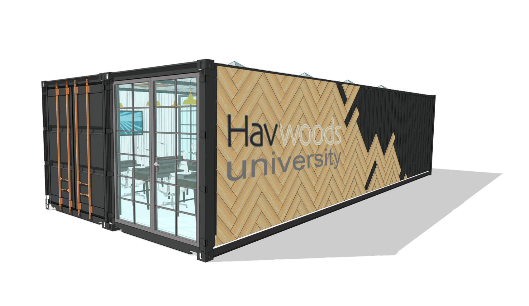 Shipping container classroom concept design