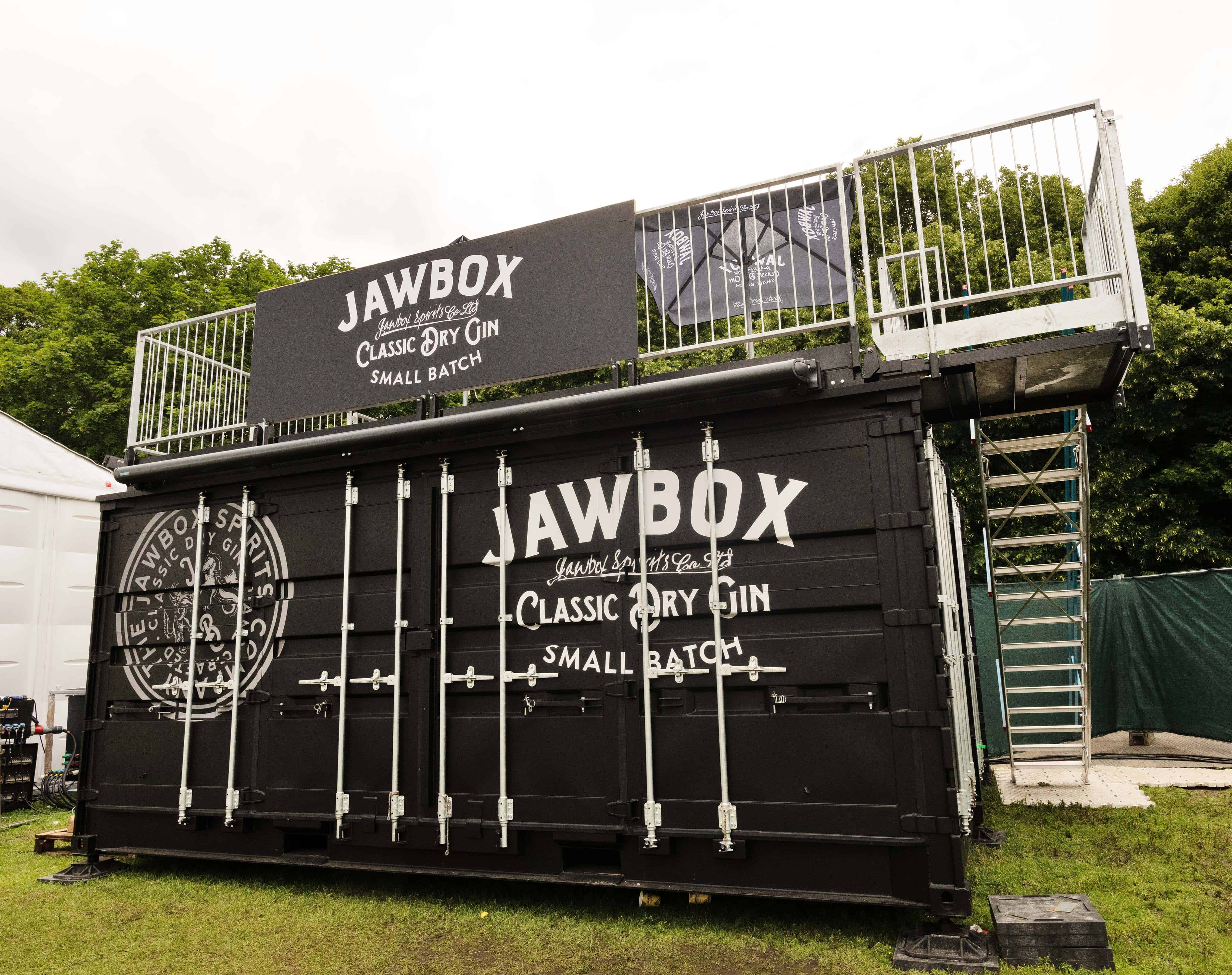 Shipping container bar at Taste of London