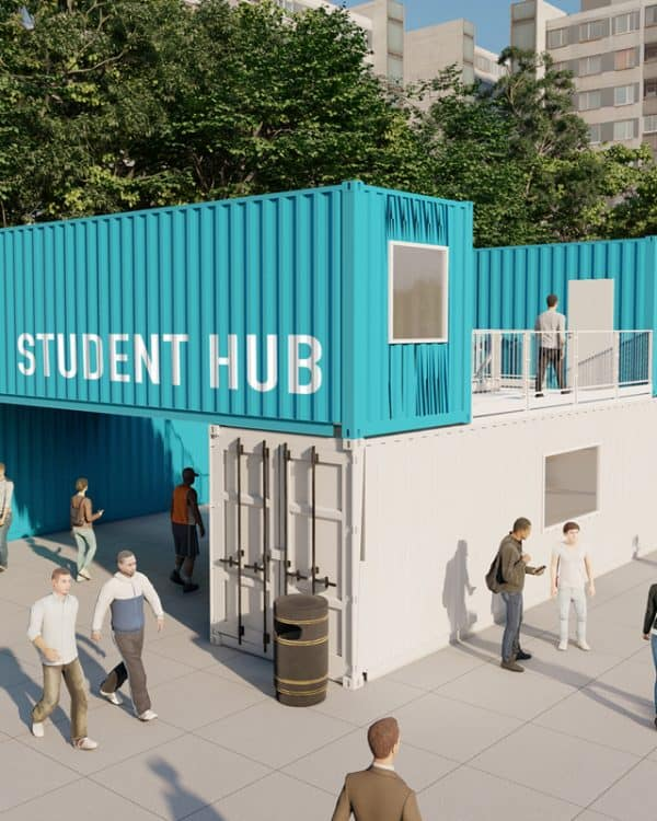 ISO Spaces modular student accommodation concept