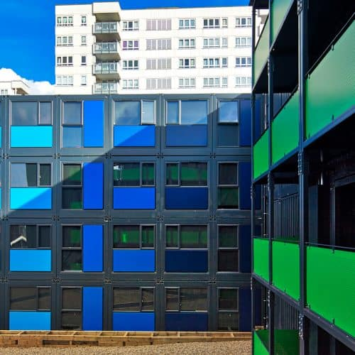 An example of ISO Spaces modular accommodation for temporary or social housing.